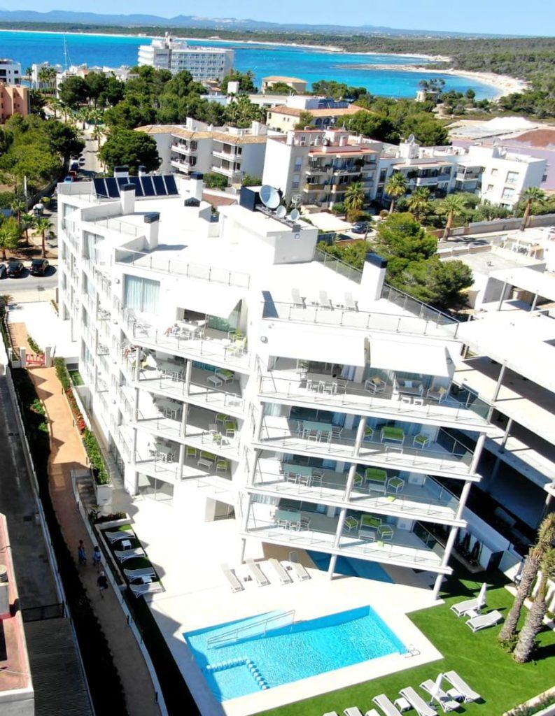 Panorámica Apartaments Posidonia - construidos por OCTR