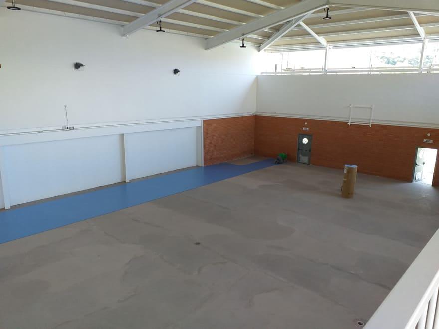 Interior pabellón deporte (fase construcción)