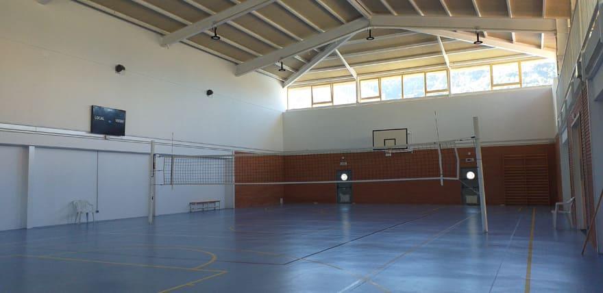 Panorámica interior pabellón deporte